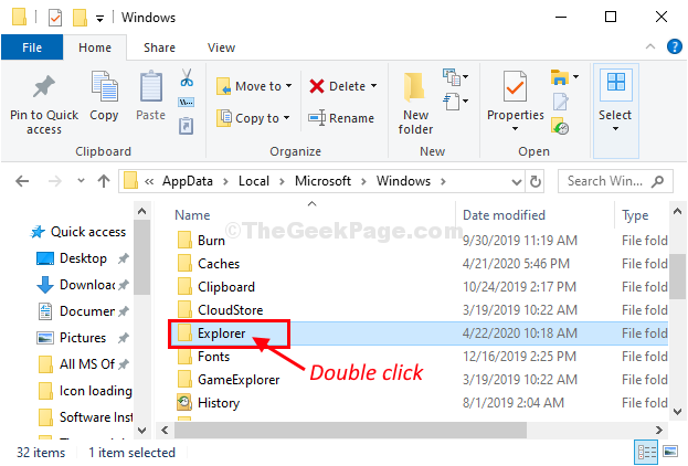 Explroer Double Click