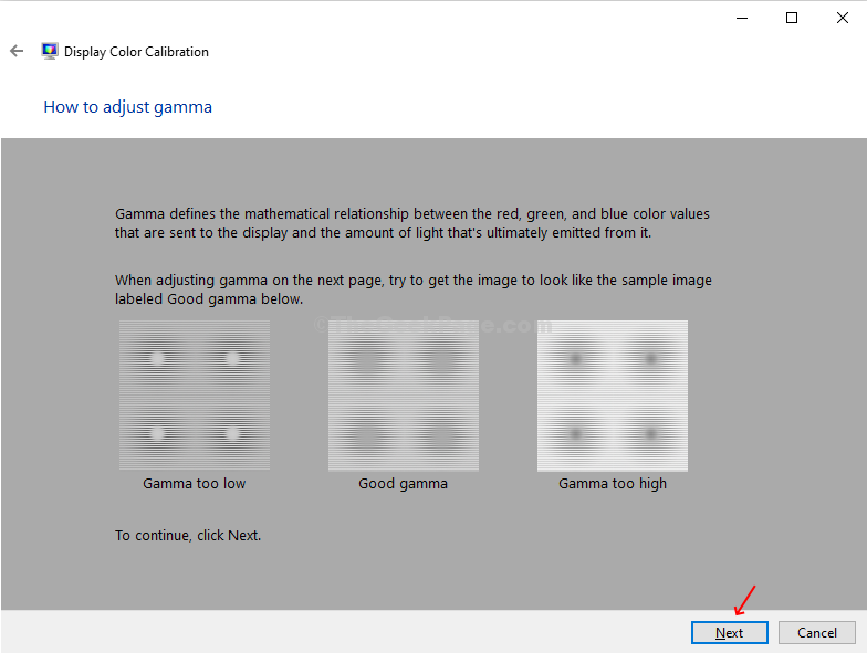 Gama Window Check Example Next