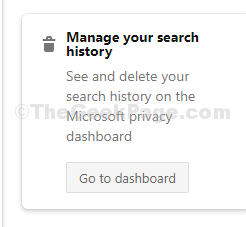 Go To Manage Your Search History Section And Click On Go To Dashboard
