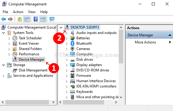 Left Device Manager Right Anywhere On The List