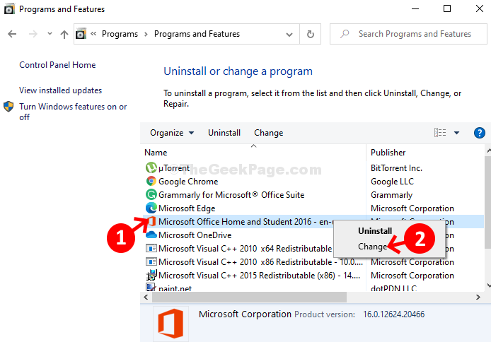 Microsoft Office Home And Student 2016 Right Click Change
