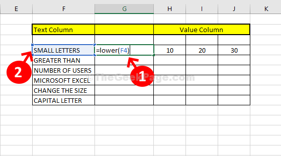 New Column Type = Lower( Select Small Letters Go Back To New Column Enter