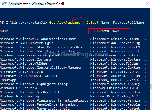 Powershell Run Command Apps List Name Packagefullname