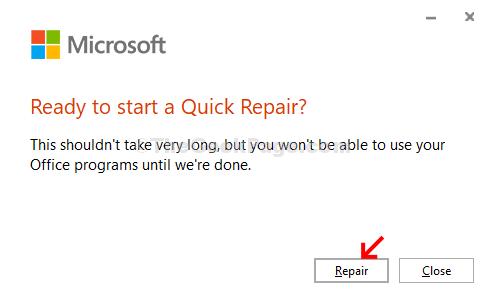 Ready To Start A Quick Repair Repair