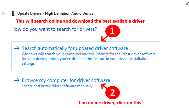 Search Automatically For Updated Driver Software Browse My Computer For Driver Software