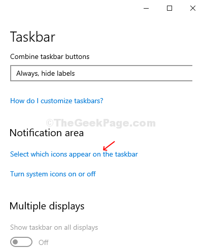 Taskbar Settings Select Which Icons Appear On The Taskbar