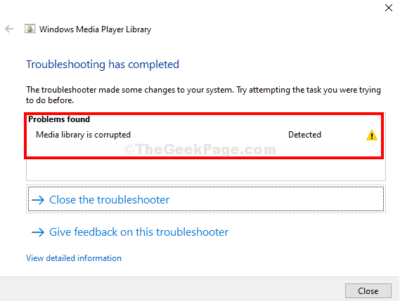 Troubleshoot Complete Media Library Corrupt Close