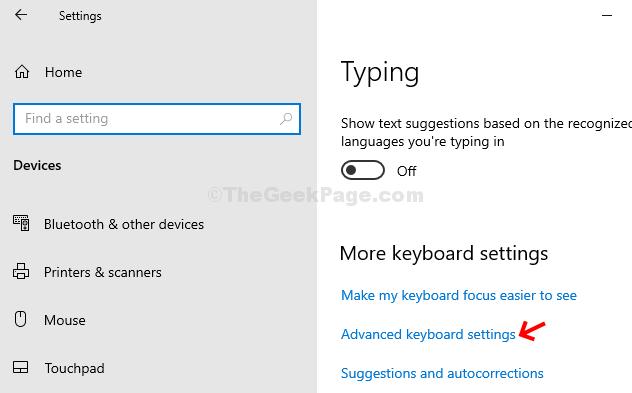 Typing More Keyboard Settings Advanced Keyboard Settings