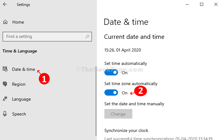 Under Time And Language, Click On Date And Time On The Left And Then Turn The Slider On The Right