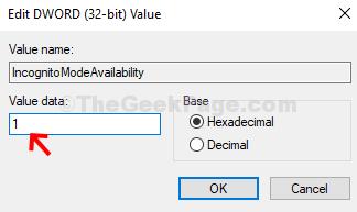 Value Data 1 Ok
