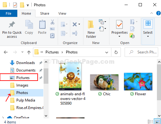 Win + E File Explorer Pictures Photos