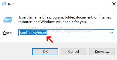 Win + R Control Keyboard Enter