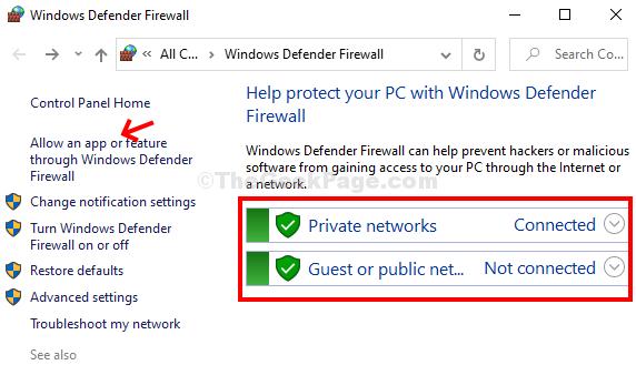 Windows Defender Firewall Control Panel Allow An App Or Feature Through Windows Defender Firewall