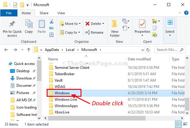 Windows Double Click