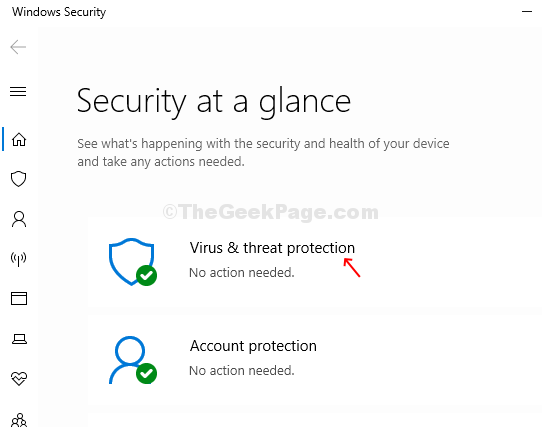 Windows Security Virus & Threat Protection