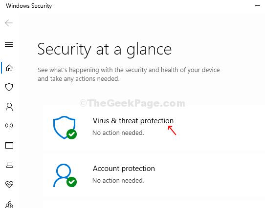 Windows Security Virus & Threat Protection