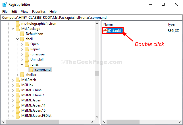 Command Double Click O