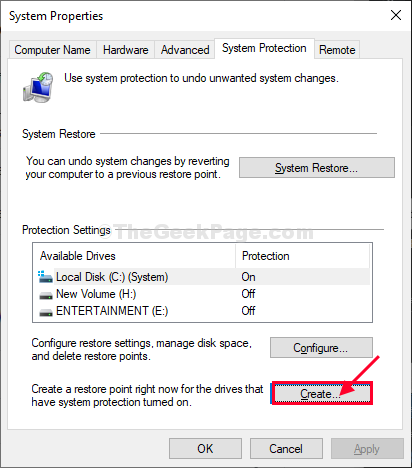 Create A New Restore Points
