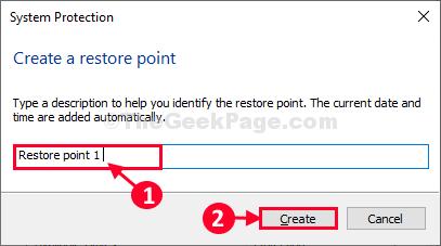 Create Restore Point 1