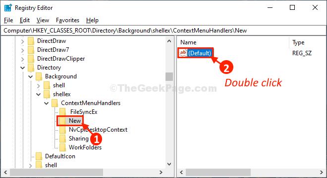 Default Double Click