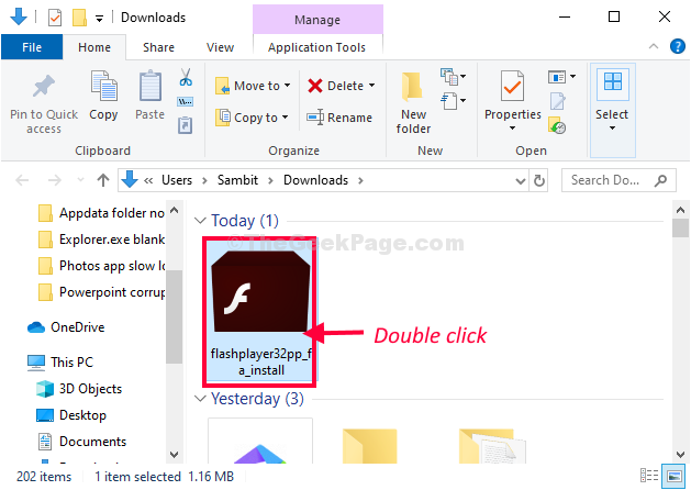 Double Click Flash Player