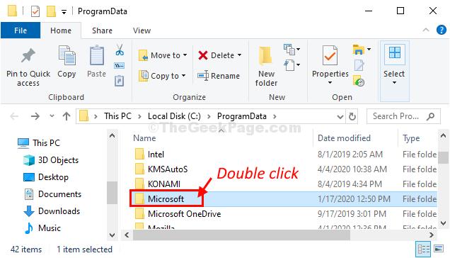 Double Click Program Data