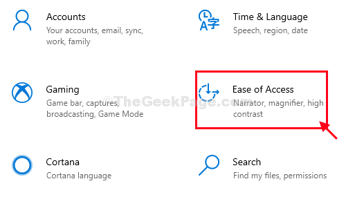 Ease Of Access Settings New