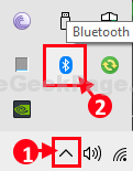 Hidden Bluetooth Icon