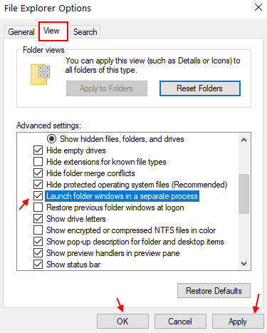 Launch Folder Window Seperate Process Min