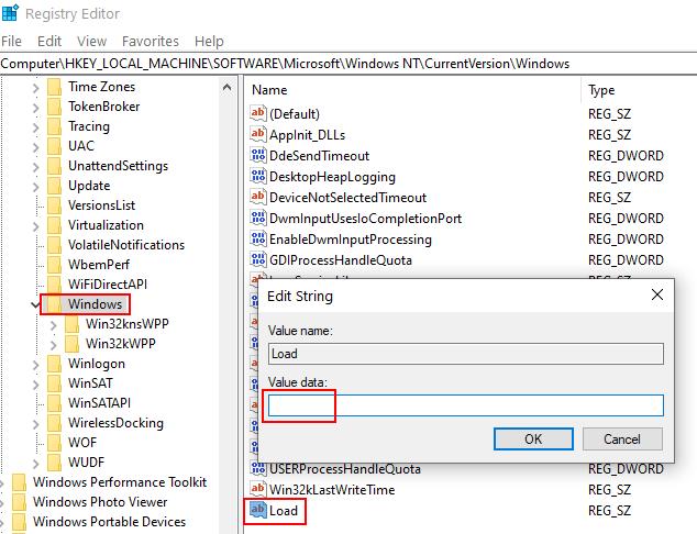 Load Value Data Min