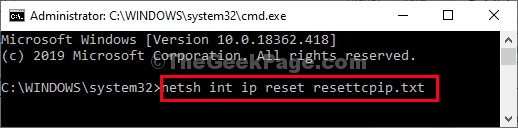 Netsh Reset Txt Format
