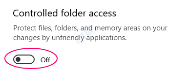 Off Controlled Folder Access1