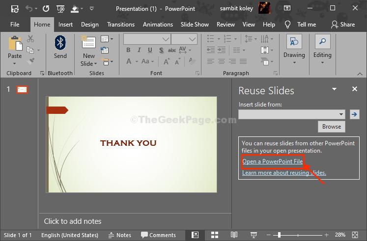 Open A Presentation File