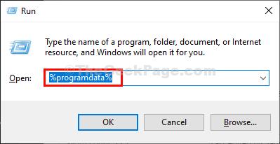 Program Data Run