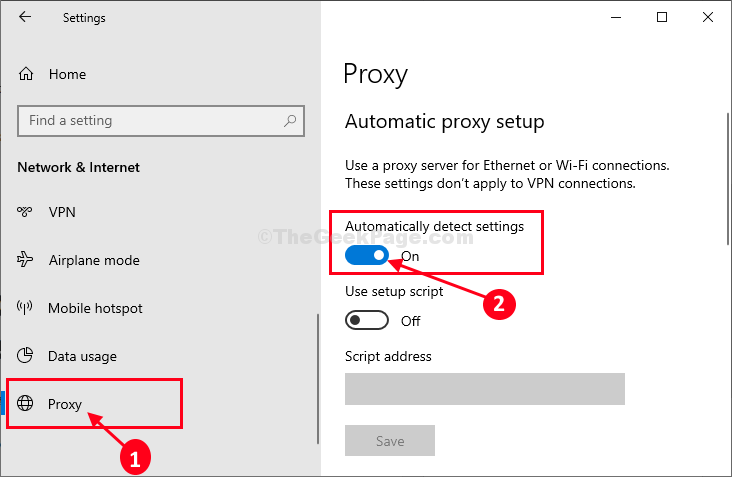 Proxy Server Settings Window Auto Detect