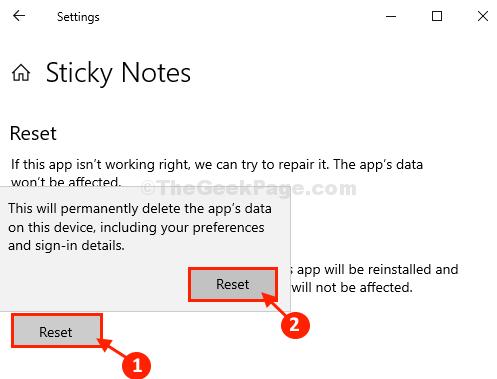 Reset Sticky Notes