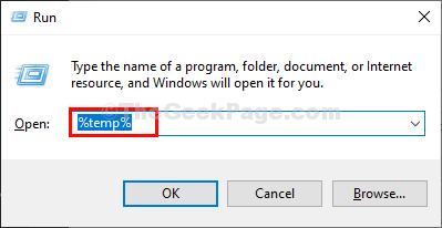 Temp Folder Run