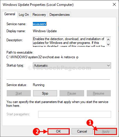 Windows Update Apply Ok
