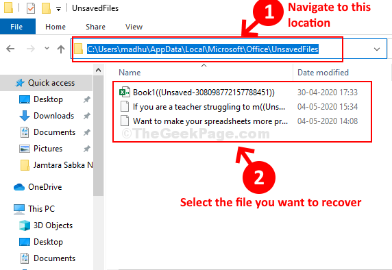 Appdata Folder Navigate To The Location Select File To Recover