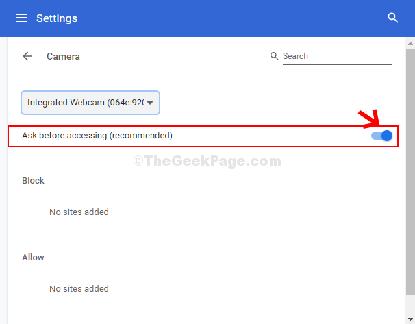 Camera Turn On Ask Before Accessing