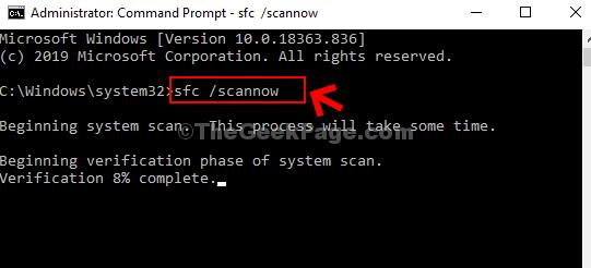 Command Prompt Run Sfc Scannow Command Enter