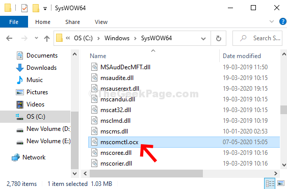 Copy Mscomctl.ocx To Syswow64 Folder