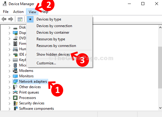 Device Manager Network Adapters View Show Hidden Devices