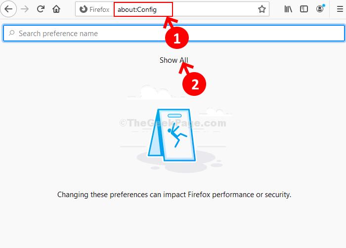 Firefox Address Bar About Config Show All