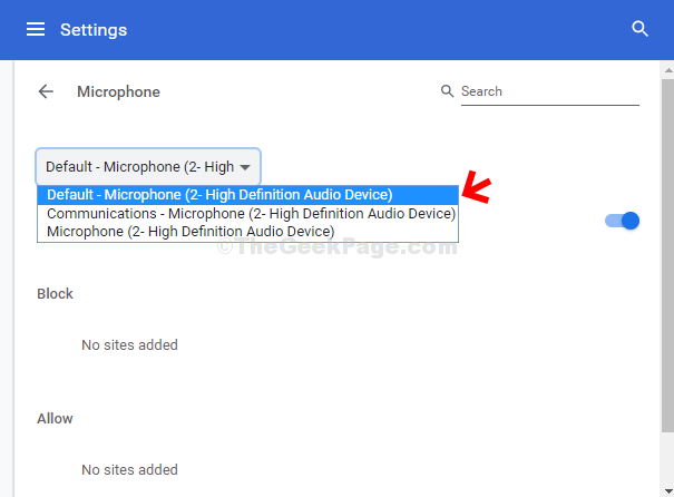 Microphone Select The Appropriate Microphone