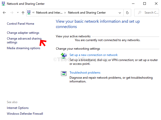 Network And Sharing Center Change Adapter Settings