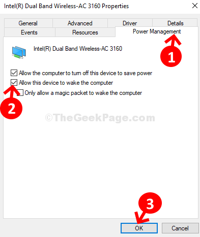 Power Management Check Or Uncheck Allow This Device To Wake The Computer Ok