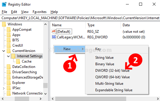 Registry Editor Navigate To Path Right Side Right Click New Dword (32 Bit) Value