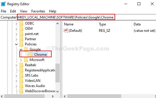 Registry Editor Navigate To Path Chrome Key