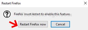 Restart Firefox Now